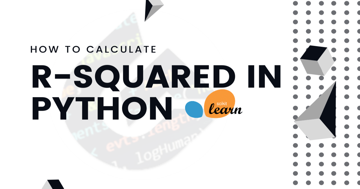 How to calculate the R-squared in Python